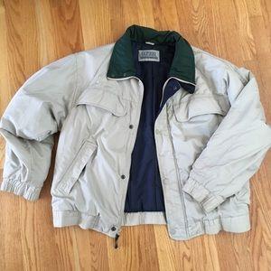 Cream + Green + Navy Puffy Winter Coat